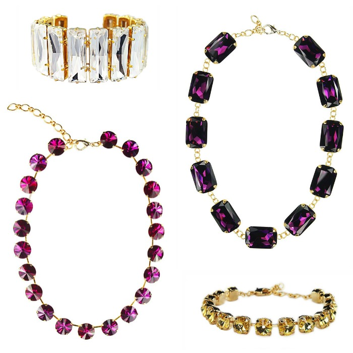 Bright, beautiful crystal jewelry from the JY Jewels Insouciance collection.