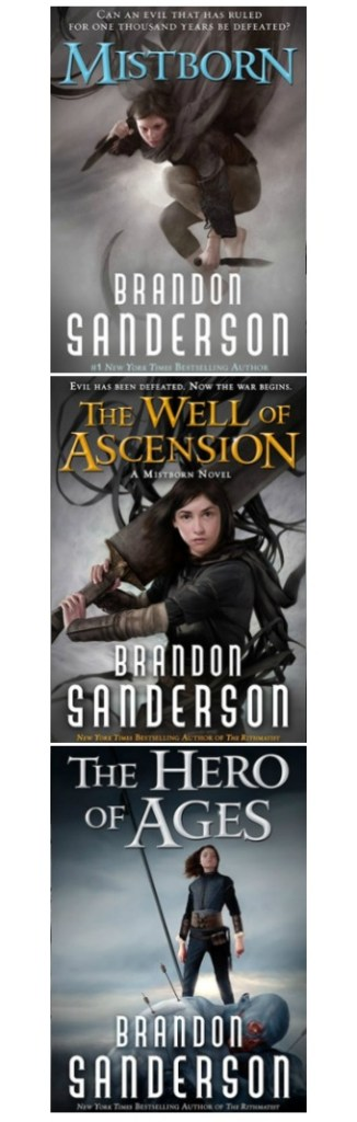My book review of Brandon Sanderson's Mistborn Trilogy - a series of three totally enthralling, masterfully written fantasy novels I just couldn't put down.