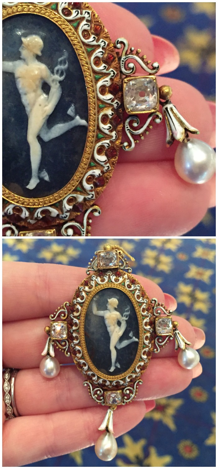 A stunning Victorian Renaissance revival cameo pieced by renowned French goldsmith, Froment-Meurice. At M. Khordipour.