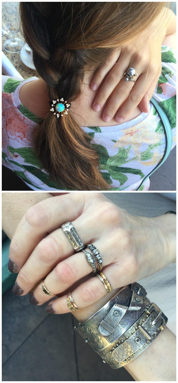 Beautiful brunch jewels on Anya of GemFever and Beth Bernstein