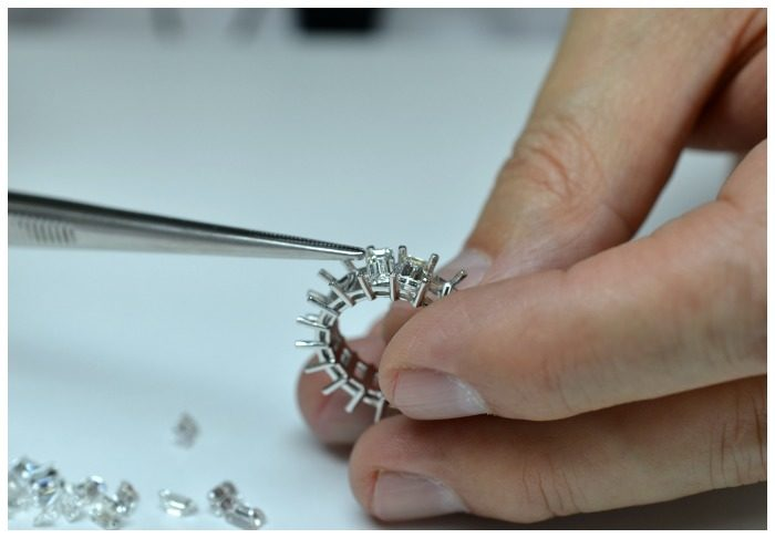 I.D. Jewelry in NYC is known for its fantastic custom made diamond eternity bands and engagement rings.
