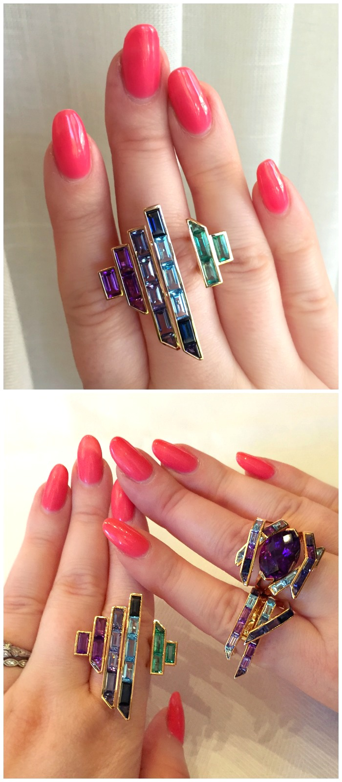 Rings from the Tomasz Donocik Electric Night collection.