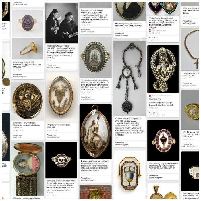This Pinterest board is dedicated to Mourning and Momento Mori jewelry.