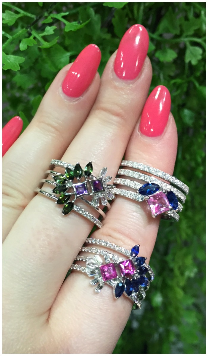 Wonderful gemstone rings by Ayva jewelry.