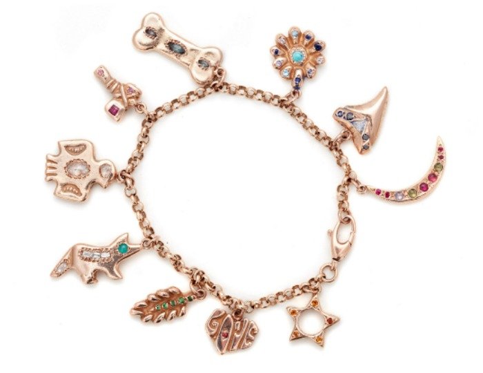 A beautiful charm bracelet by Elisa Solomon.