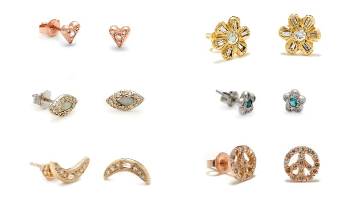 Beautiful stud earrings by Elisa Solomon.