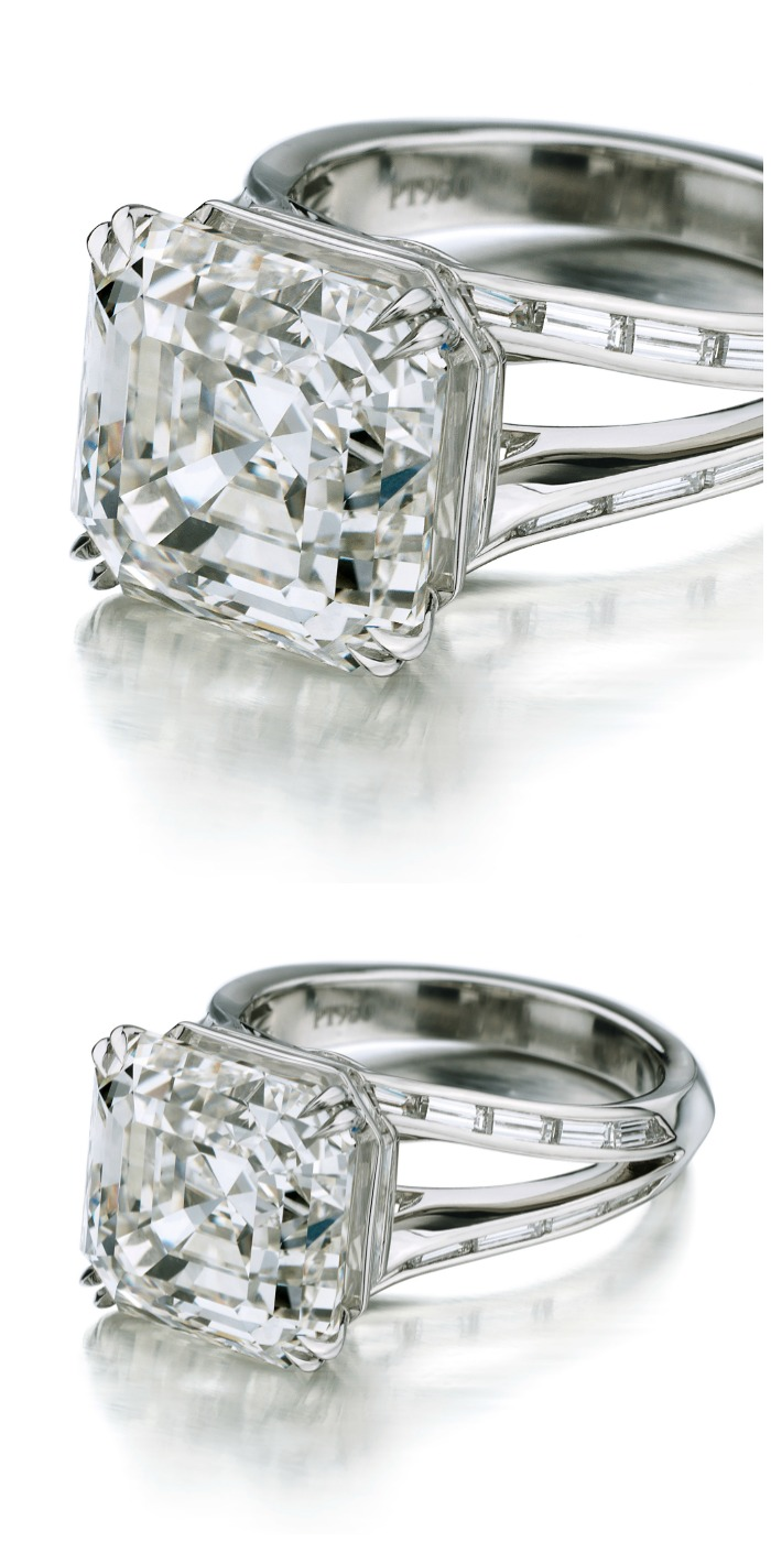 Forevermark by Maria Canale Deco Asscher cut diamond ring.