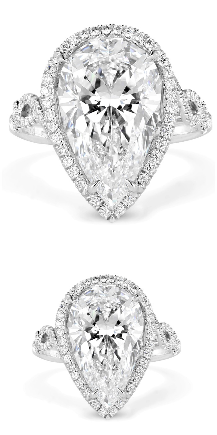 Forevermark by Premier Gem pear-cut diamond engagement ring