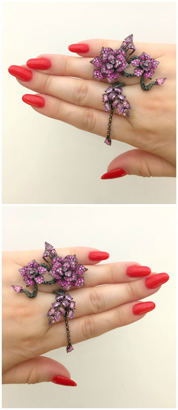 A beautiful floral ring by Wendy Yue. Seen at VicenzaOro.