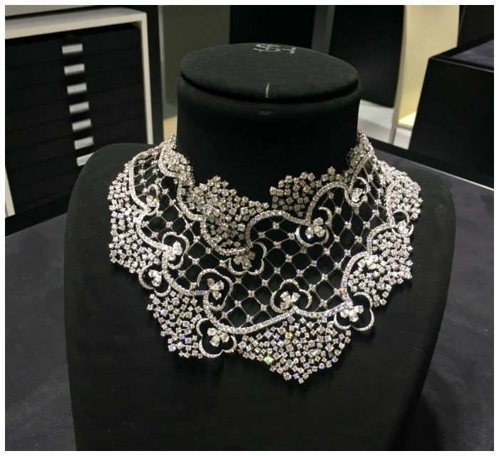 An incredible diamond necklace by Stefan Hafner. Seen at VicenzaOro.