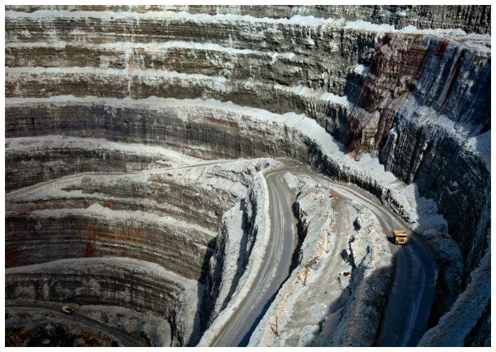 Diamonds Do Good: Udachny quarry, one of ALROSA's diamond mines in Siberia.