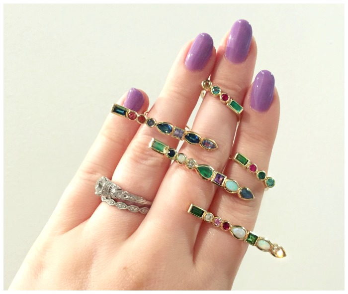 Beautiful gemstone rings by Ilana Ariel.