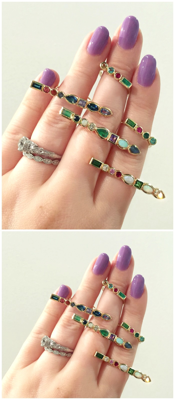 Beautiful gemstone rings by Ilana Ariel.