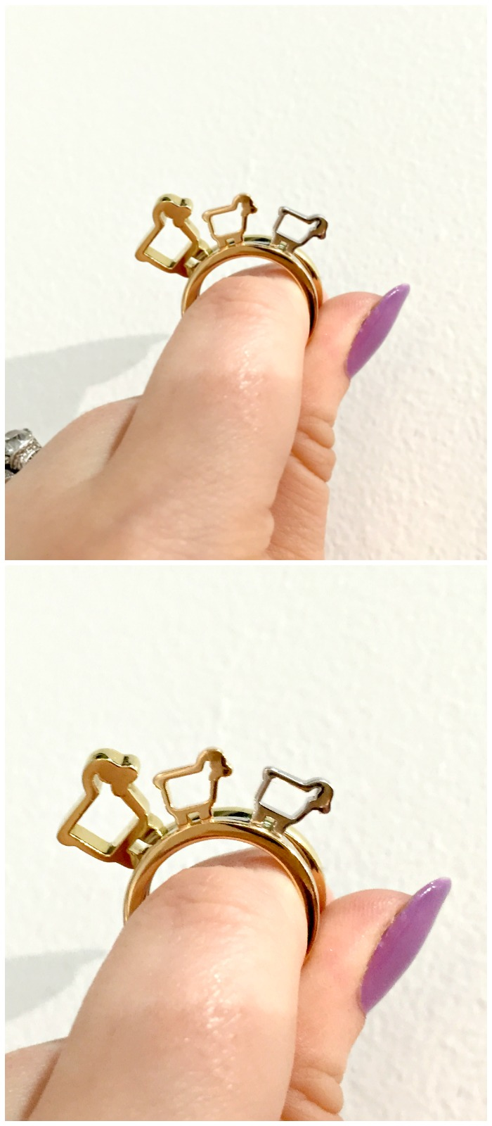 Getting to know a small herd of Julie Lamb's Be Ewe rings at Metal and Smith.