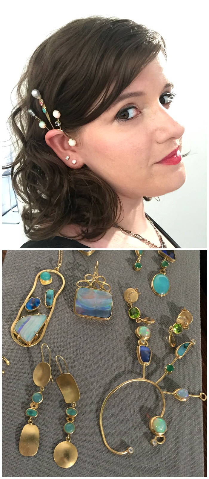 I love these fabulous opal and gemstone pieces by Katey Walker.