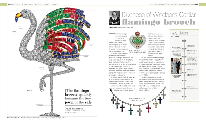 The Duchess of Windsor's Flamingo brooch, from Gem; The Definitive Visual Guide.