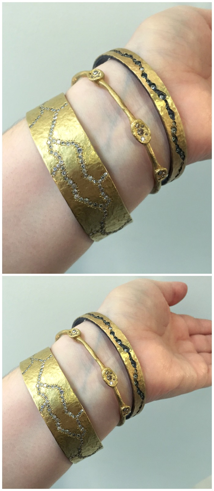 Three beautiful bracelets from TAP by Todd Pownell. Seen at Metal and Smith.