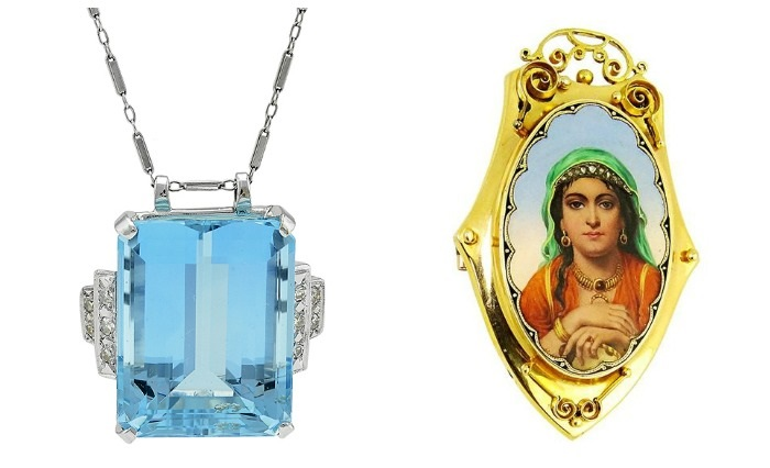 Fabulous jewelry that is currently up for auction and available through Bidsquare.