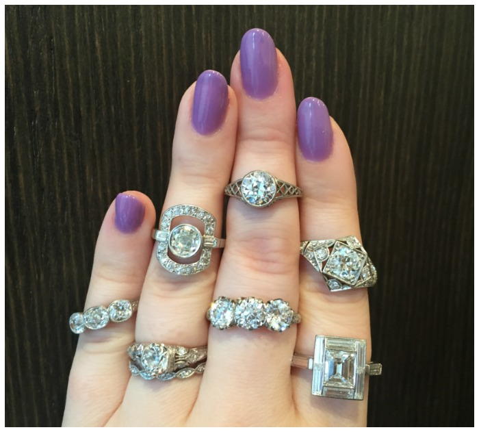 Stunning antique diamond rings from Erstwhile Jewelry Co.