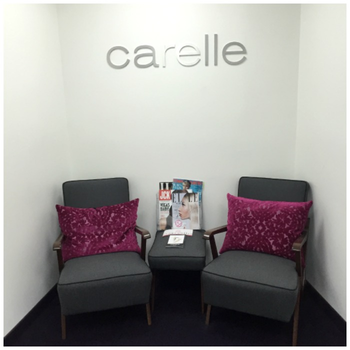 The beautiful offices of Carelle jewelry.