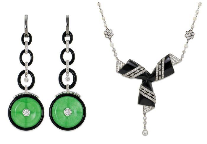 Two beautiful pieces of jewelry currently up for auction and available through Bidsquare.