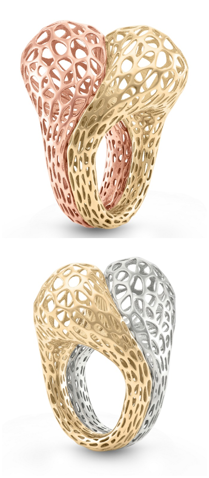 Vitae Ascendere's metal lace rings are inspired by nature, but designed and crafted using cutting edge technologies.