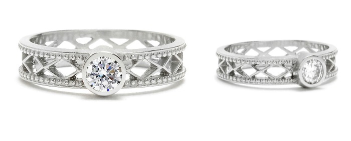The Trellis round diamond engagement ring, by Megan Thorne. A great example of what contemporary engagement rings. have to offer.