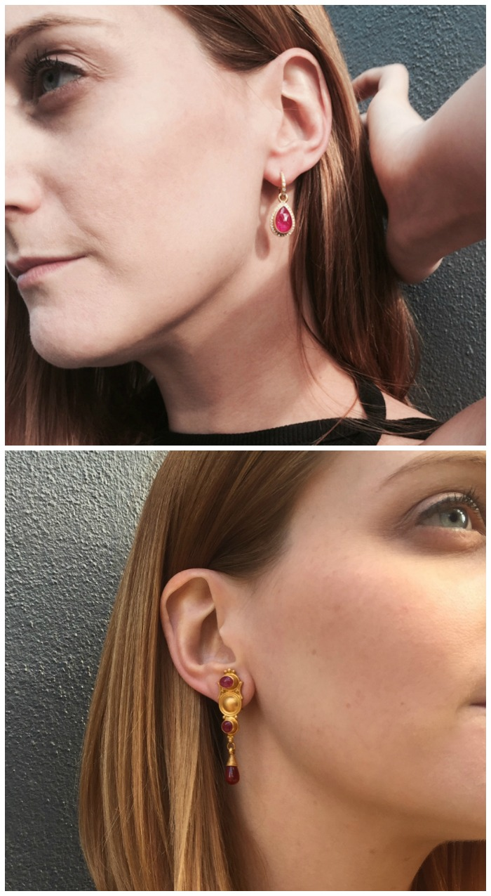 Two beautiful pairs of earrings by Reinstein Ross.