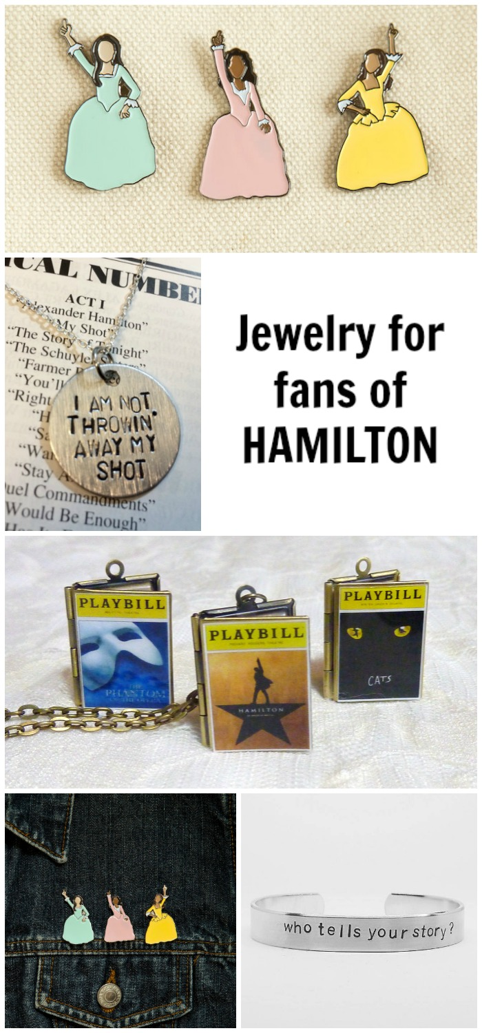 If you love the musical Hamilton as much as I do, you're going to want to to buy all of this jewelry.