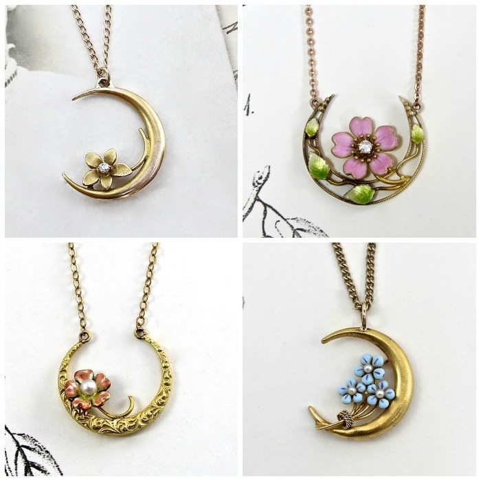 One of my most popular posts of 2016 - An antique enamel flower jewelry roundup.