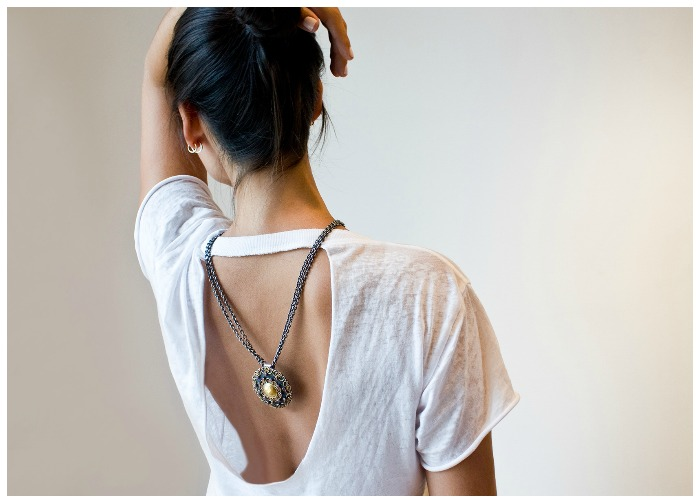 A beautiful necklace by Stella Flame.
