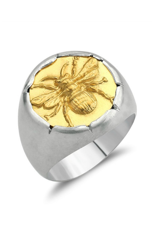 A bee signet ring by Stella Flame jewelry.