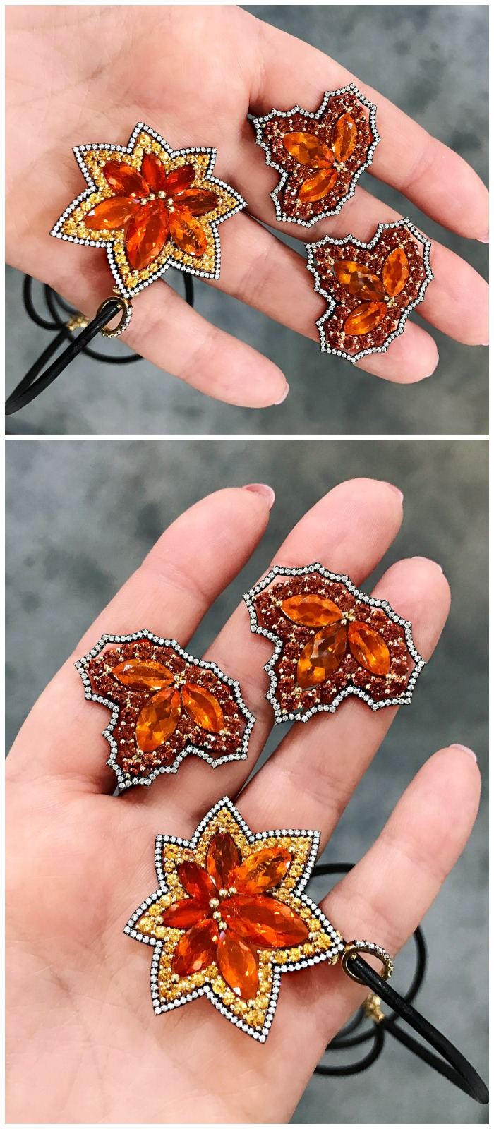 Fire opal jewelry by Campbellian Collection. Beautiful!