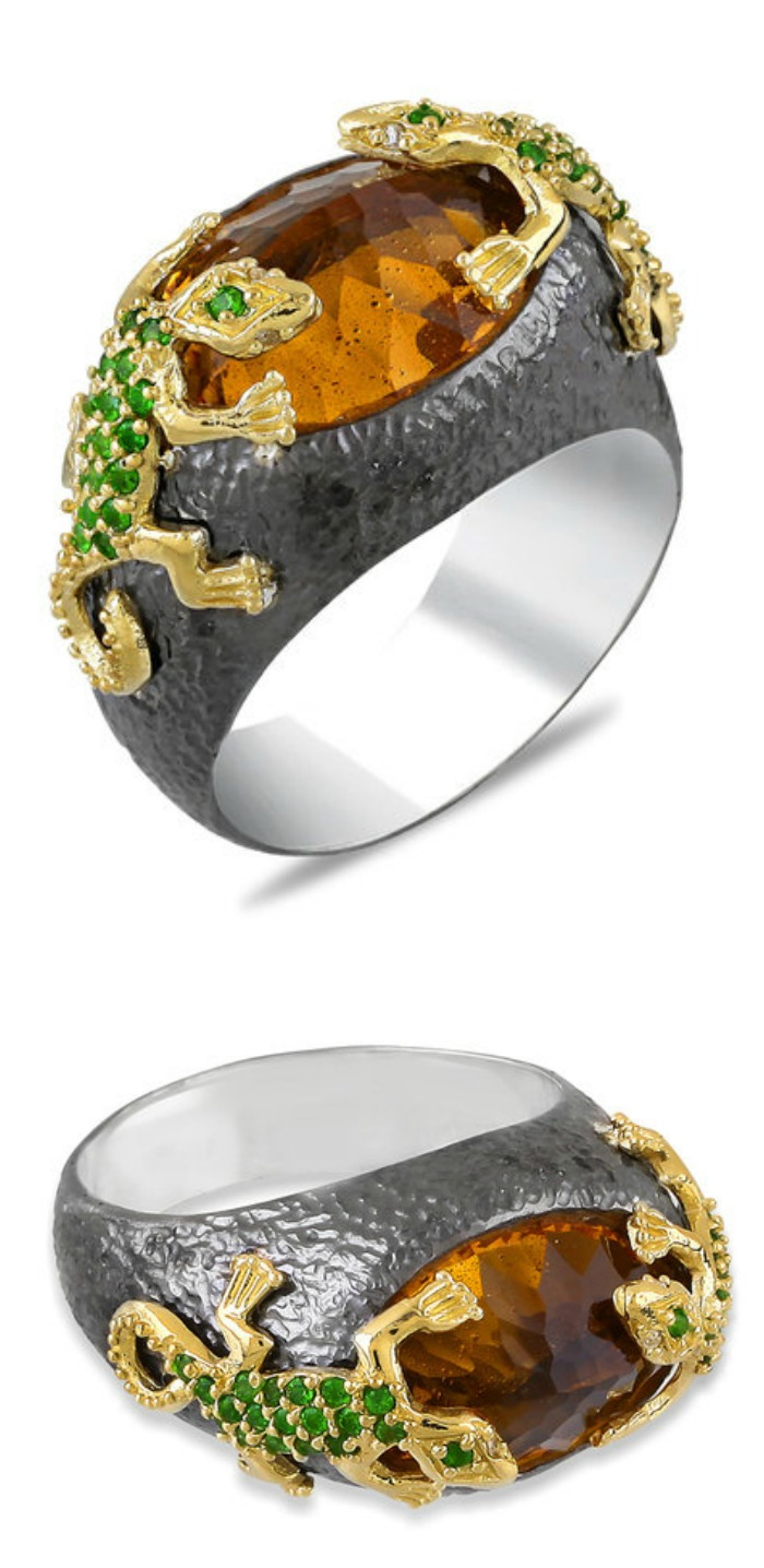 Stella Flame's Beauty and the Beast lizard ring.