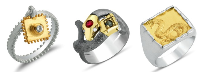 Three rings by Stella Flame jewelry