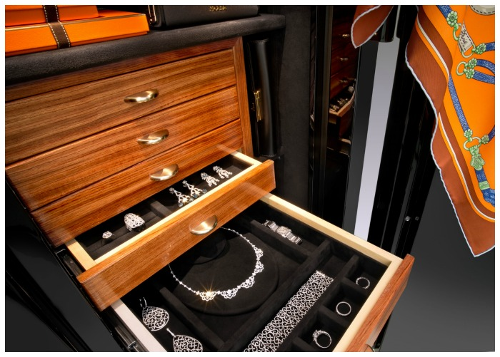 A beautiful custom safe from Brown Safes. I want one of these to fill with fabulous jewelry!