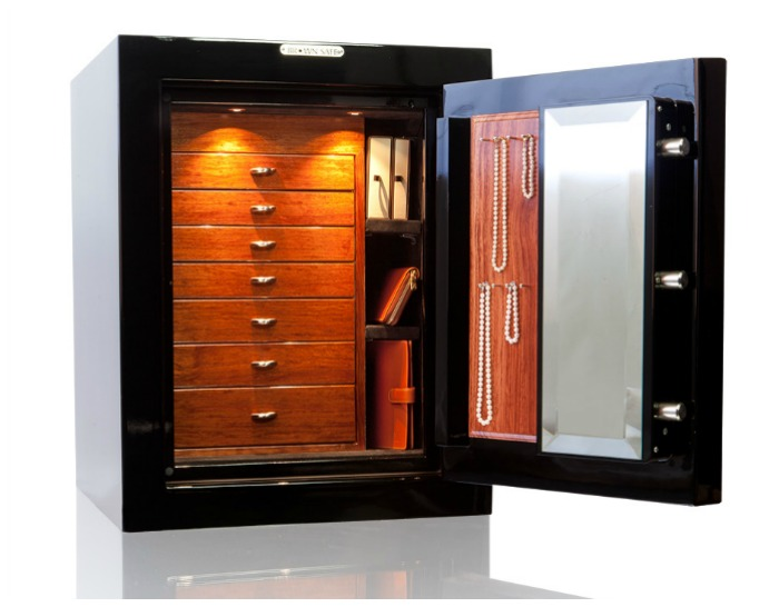 A beautiful custom safe from Brown Safe.