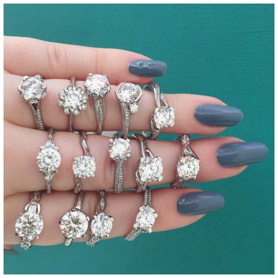 A handful of magnificent diamond engagement rings by MaeVona.