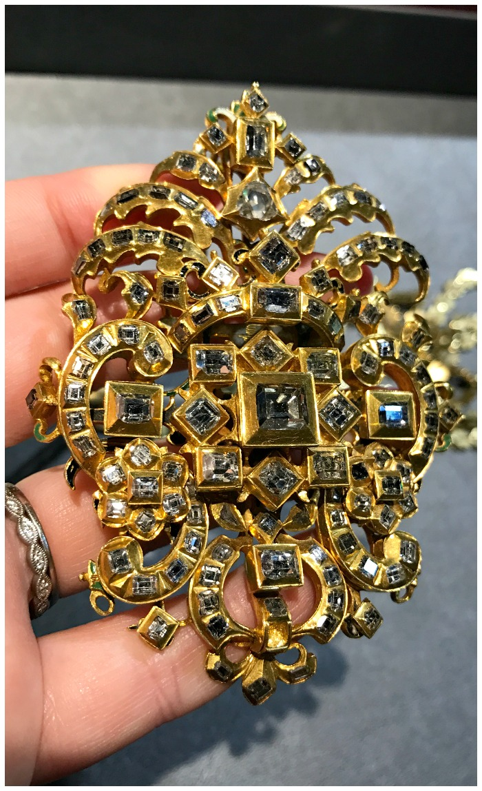 An utterly incredible and huge Renaissance Revival diamond pendant from the 1800's. Seen at Sam Sadian.