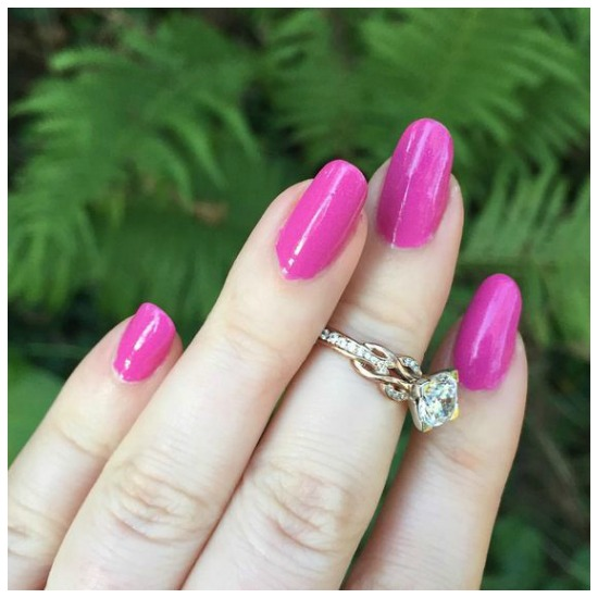 The Eriskay Double Loop diamond engagement ring by MaeVona.