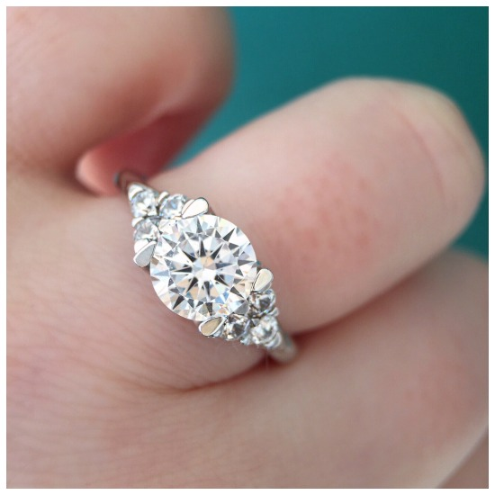 The lovely Meadowsweet engagement ring by MaeVona.