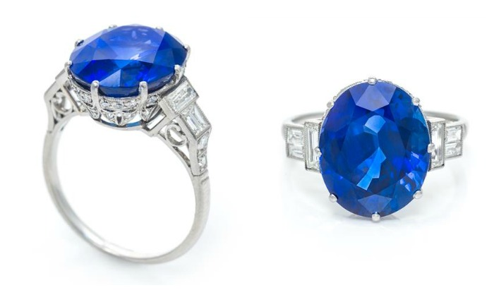 This very special sapphire and diamond ring features an ultra-rare and exquisite 11 carat no-heat Burmese sapphire.