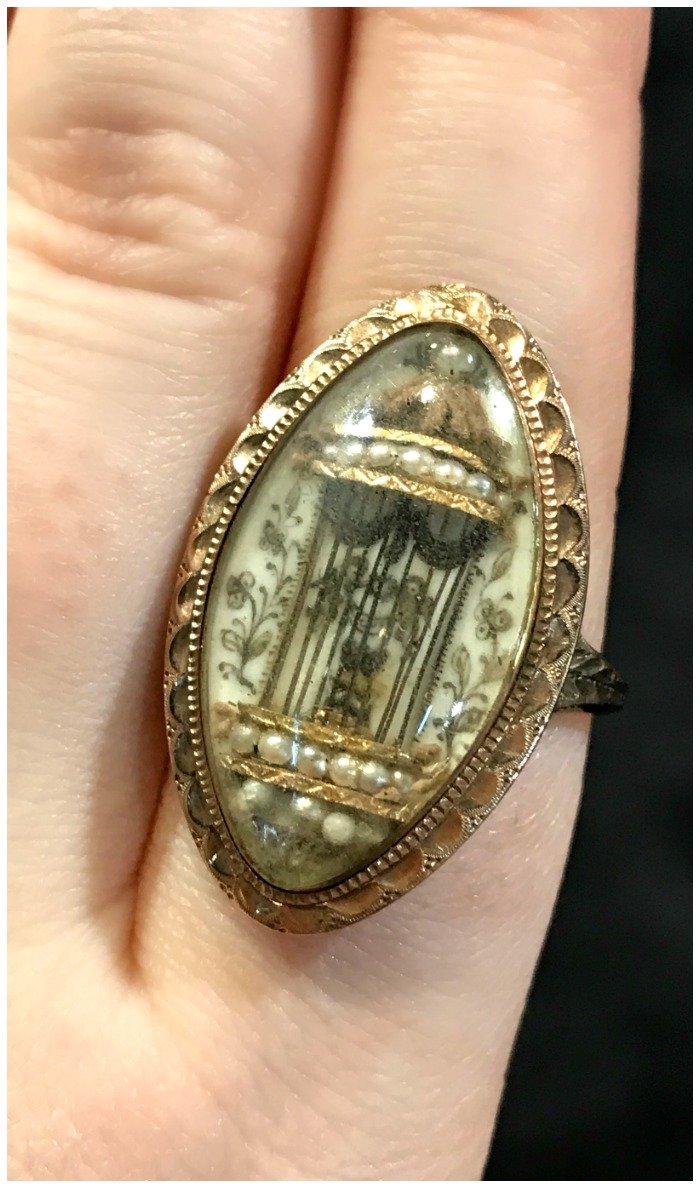 An exceptional antique ring from Lowther Antiques. A stunning piece of sentimental jewelry.
