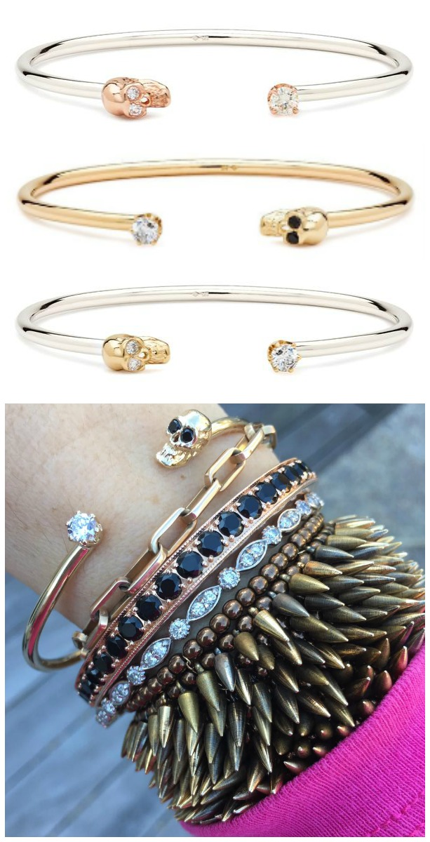 I love the Alexis Kletjian skull cuffs!