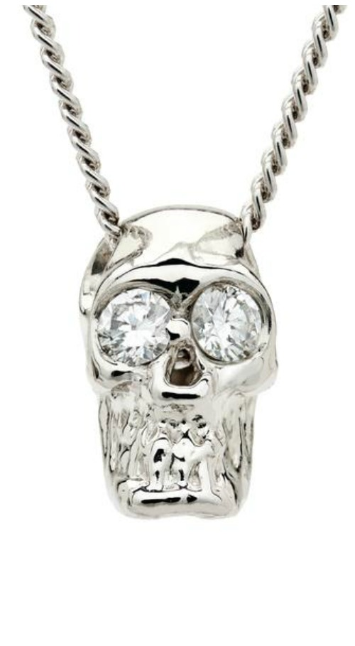 I love these Alexis Kletjian skulls! In platinum with diamonds.