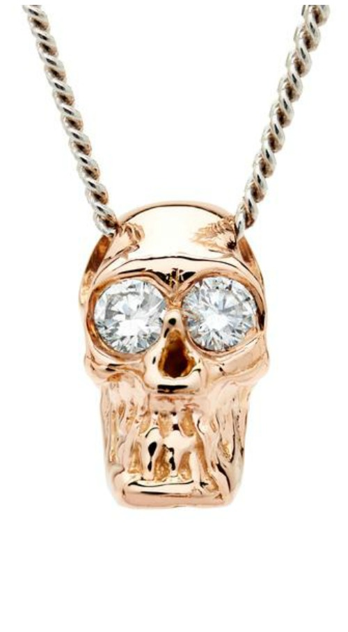 I love these Alexis Kletjian skulls! In rose gold with diamonds.