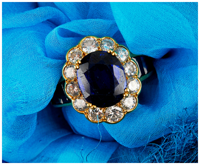 I love this sapphire and diamond cluster ring! I think it would be a great alternative engagement ring.