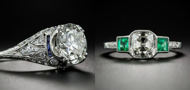 Let's look at antique engagement rings.
