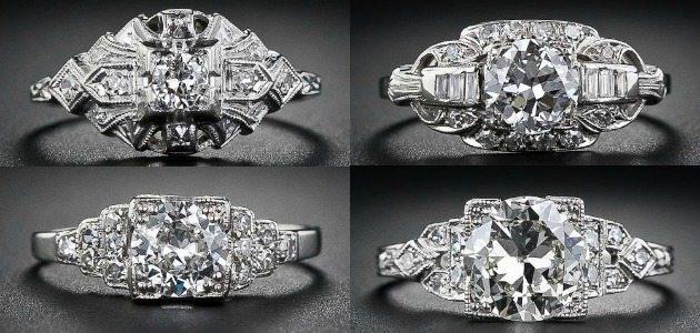 Ring roundup - Art Deco engagement rings