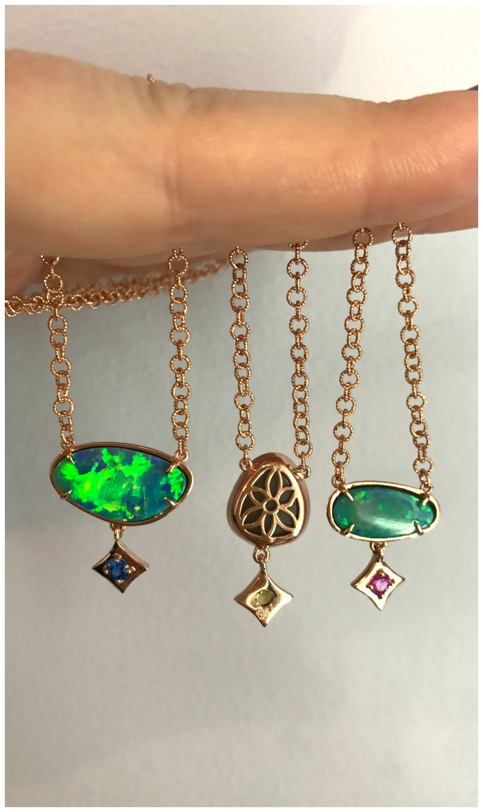 Beautiful opal and gemstone necklaces from Gigi Ferranti jewelry! Each one of a kind.